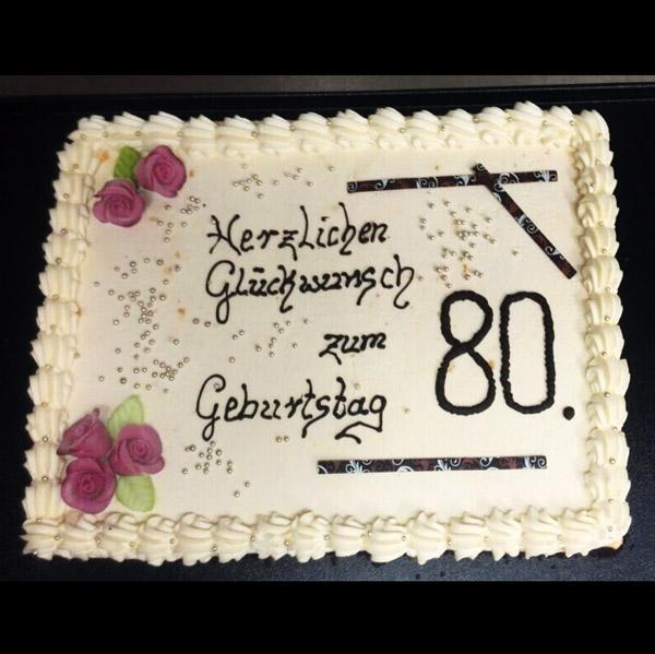 Torte zum 80 geburtstag bestellen